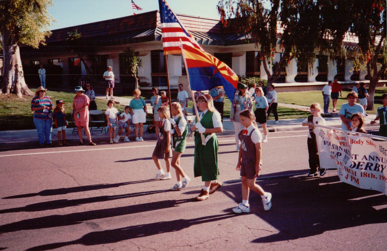 A parade usually proceeded the race.