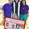 Nick, Dave, and Joanne Madigan, family members to Craig Madigan, at the fourth annual Craig's Way Bowl-A-Thon at Mason Bowling Center in Leominster on Saturday afternoon. Craig passed away at the age of 21 from acute bronchial pneumonia. SENTINEL & ENTERPRISE / Ashley Green