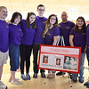 Ron Cormier, Kim Cormier, Brittany Cormier, Ryan Normlie, Krystie Cormier, Bryan Gaudet, Julia Cormier, and Amanda Berthiaume, family friends to Craig Madigan, at the fourth annual Craig's Way Bowl-A-Thon at Mason Bowling Center in Leominster on Saturday afternoon. Craig passed away at the age of 21 from acute bronchial pneumonia. SENTINEL & ENTERPRISE / Ashley Green