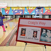 Adrianna Gonzalez, 4, bowls at the fourth annual Craig's Way Bowl-A-Thon at Mason Bowling Center in Leominster on Saturday afternoon. Craig passed away at the age of 21 from acute bronchial pneumonia. SENTINEL & ENTERPRISE / Ashley Green