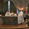 Fr. Tom Cassidy (provincial superior), Bishop Joseph Potocnak and Dn. David Nagel.