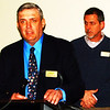 Debbie Blank | The Herald-Tribune<br /> President Gene Moster (left) and Vice President Steve Krider kept the meeting moving.