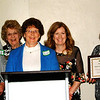 Debbie Blank | The Herald-Tribune<br /> Main Street Brookville was presented with one of two chamber beautification awards. Representatives at the podium were (from left) President Jim Lubic and board members Connie Gayda, Nancy Main, Michele Russell and Holly Murray.