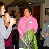 Debbie Blank | The Herald-Tribune<br /> Andi White (from left) of White's Farm chats with Kelly Graff and Elaine Laux of E.K. Loft Properties.