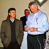 Debbie Blank | The Herald-Tribune<br /> Jeff Fuller (left) of Dave O'Mara Contractor shares a laugh with Brent Riehle, Town of Brookville streets and park superintendent.