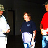 "Debbie Blank | The Herald-Tribune<br /> Indiana Department of Homeland Security District 9 coordinator Doug Cooke (from left) educates county Coroner Wanda ""Tink"" Lee and Eagle Fire Co. volunteer Charlie Israel, Oldenburg, who was observing the exercise."