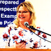 "Debbie Blank | The Herald-Tribune<br /> Franklin County Farm Service Agency executive director Lisa Hollars, assisted by program technicians Beth Foreman and Tracy Jaeger, reported, ""We don't send any hard-copy newsletters ... Everything is going electronic. The other thing our agency is leaning toward is text alerts,"" usually about deadlines."