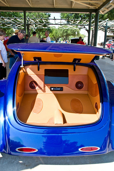 Yes, that is Ostrich leather in the trunk!