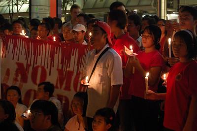 Free Burma Candle Light Vigil 2007