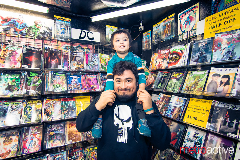 """At Heroes Comics, Campbell.<br /> <br /> Photo by Geoffrey Smith II   <a href=""""http://www.geoffreysmithphotography.com"""">http://www.geoffreysmithphotography.com</a>"""