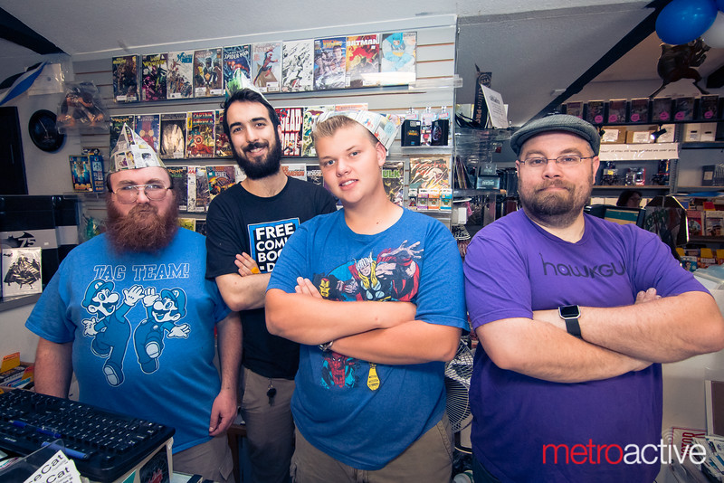 """At Spacecat Comics and Cards, San Jose.<br /> <br /> Photo by Geoffrey Smith II 