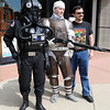 "Jeff Anderson, left, an Imperial pilot, Aaron Garber,  playing Dengar, the bounty hunter, and regular person, Sean O'Neill, pose for a photo outside Time Warp Comics.<br /> Time Warp Comics and Games in Boulder is one of thousands of comic book shops around the world celebrating the comic book art form on Saturday, May 5th. On Free Comic Book Day, over 3.3 million comic books will be given away by participating stores, introducing as many people as possible to the wonders of comic books!<br /> For a video and more photos of comic book day, go to  <a href=""http://www.dailycamera.com"">http://www.dailycamera.com</a>.<br /> Cliff Grassmick / May 5, 2012"
