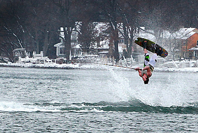 Max Wessels pulling off an invert in sub-freezing weather with only shorts and a life vest!