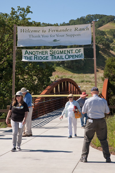 Grand Opening Muir Heritage Land Trust's Fernandez Ranch property. The property includes a new section of the Bay Ridge Trail.<br /> <br /> <br /> 20100605-IMG_1754