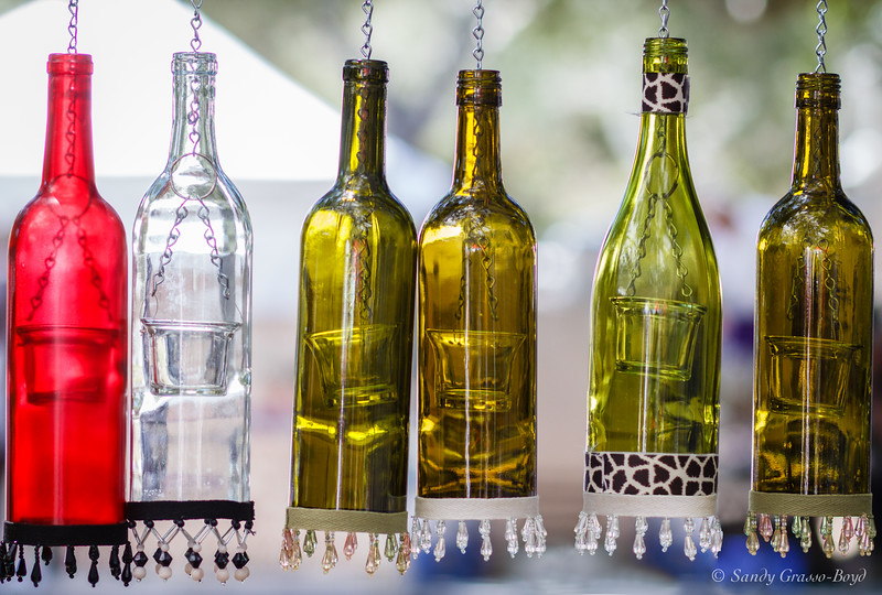Hanging Bottles at the French Festival