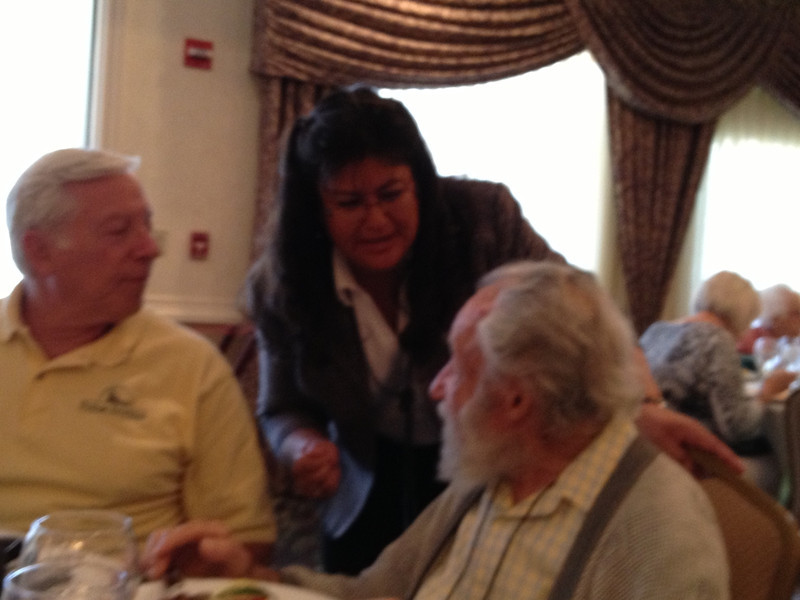 <b>Friends 30th Anniversary Luncheon, November 7, 2012</b>  Sylvia Pelizza with Robert and Leon Kamen <i>- Pauline Stacey</i>