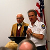 <b>Dr. Clyde Burnett and Steve Horowitz</b> <b>Dr. Burnett speaks on Climate Change and South Florida</b> January 20, 2013 <i>- Kay Larche</i>