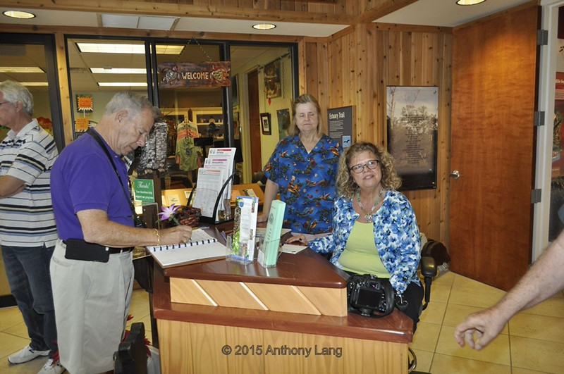 <b>David Lurie Signs Us In at the Hobe Sound Nature Center</b> January 15, 2015 <i>- Anthony Lang</i>
