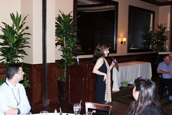 <b>Keynote Speaker Caren Neile encourages us to share our stories</b> Maggiano's Little Italy, November 5, 2013 <i>- Michael Dropkin</i>