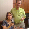 <b>Steve and Jayme Horowitz toast with empty Wine Glasses</b> February 23, 2013 <i>- Kay Larche</i>