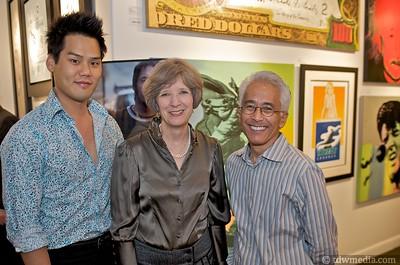 Christopher Lee, Kathie Lowry, and Richard Okiwai