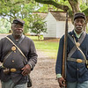 Joe McGill (Slave Dwelling Project) and Ernest Parks (re-enactors)