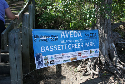 Down at Bassett Creek Park the great folks from Aveda were ready to moisturize and freshen up weary paddlers.  Oh, and FEED THEM!