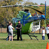 StatFlight medical helicopter was on display before the start of the Friends of the Poor Walk.