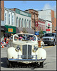 Joe Pray steers toward the photographer (ME) in a fine vintage car...Wow looks closer than I thought ;-)