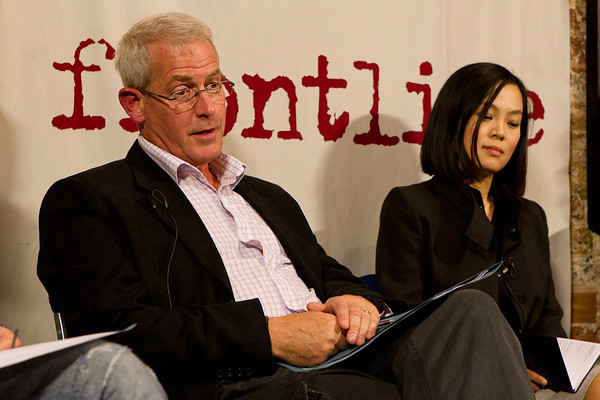 Tim Tate, investigative journalist and film maker and Jiyoung Song.
