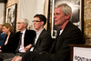 Kristinn Hrafnsson, Tom Ball, Tom Fenton, and Professor Colleen Graffy listen to a question from the audience.