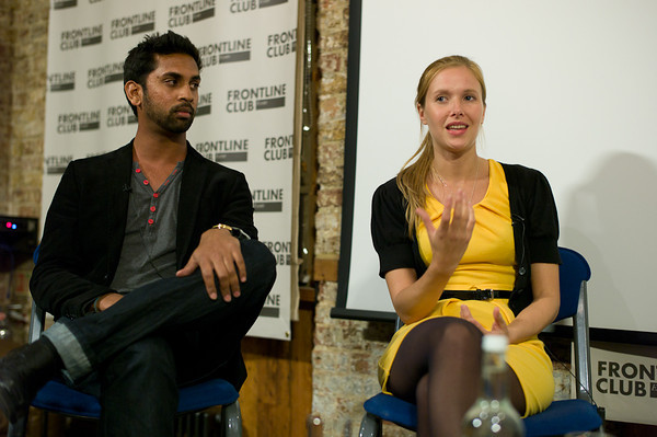 Guy Gunaratne and Heidi Lindvall