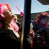 "Laura Boneham, (left) visiting from Indianapolis, blows bubbles while her sister, Trish Tyner, of Nederland, drives their car through the parade during Frozen Dead Guy Days in Nederland, Saturday, March 6, 2010.  <br /> <br /> For a video of the event, please visit  <a href=""http://www.dailycamera.com"">http://www.dailycamera.com</a><br /> <br /> KASIA BROUSSALIAN"