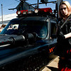 """Jami Windecker, of Aurora, walks through the parade dressed as a zombie exterminator during Frozen Dead Guy Days in Nederland, Saturday, March 6, 2010.  <br /> <br /> For a video of the event, please visit  <a href=""""http://www.dailycamera.com"""">http://www.dailycamera.com</a><br /> <br /> KASIA BROUSSALIAN"""