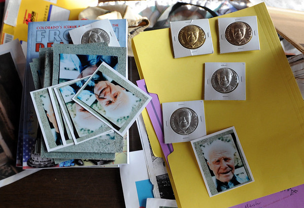 """Fans can purchase photos and coins of grandpa Bredo Morstoel.<br /> As part of the 10th annual Frozen Dead Guys Days, a tour of Trygve Bauge's house outside Nederland  was given, including his frozen grandfather, who is in a Tuff Shed.<br /> For more photos and a video of the tour, go to  <a href=""""http://www.dailycamera.com"""">http://www.dailycamera.com</a>.<br /> Cliff Grassmick/ March 4, 2011"""