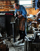 A blacksmith demonstrates his craft at the 159th Fryeburg Fair, on Oct 4th, 2009. Maine's blue ribbon classic runs through Oct. 12th.