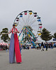 This Stilt-Walker also entertained Fryeburg Fair visitors by juggling. The Fair runs from October 4-11, 2009.