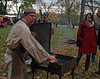 A blacksmith was on hand for demonstrations.