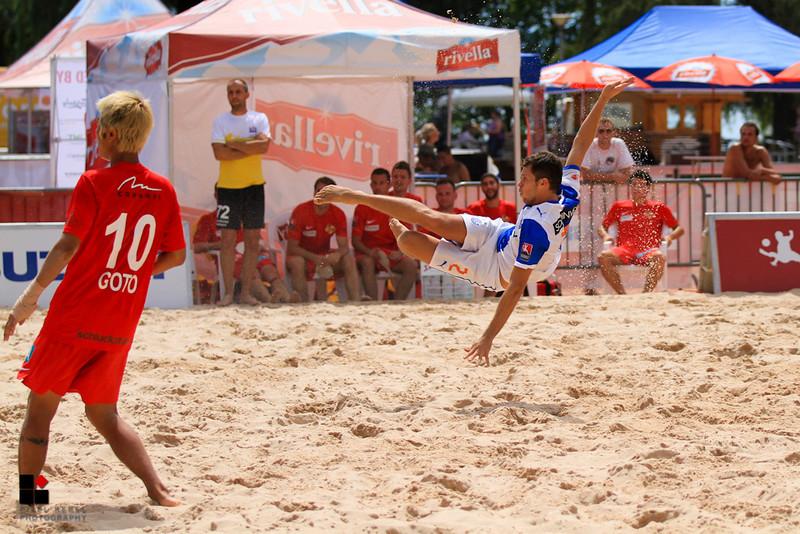 Suzuki Swiss Soccer Beach League 2013, Neuchâtel, BSC Bienne Hatchets vs Grasshopper Club Zürich
