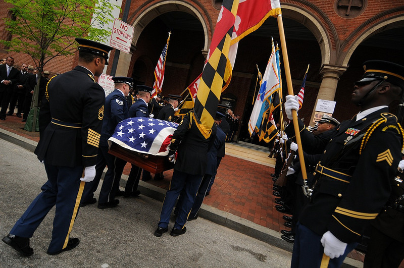 04.27.2011 BALTIMORE, MD-  Photos taken on Charles Street outside of St. Pauls Church the morning of the Funeral Service for William Donald Schaefer. (The Daily Record/Maximilian Franz).