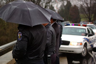 Funeral for a police officer