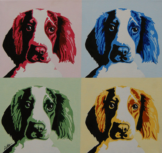 Dog of a Different Color<br /> 20 x 20 Acrylic on Canvas<br /> Henry Patton<br /> $800