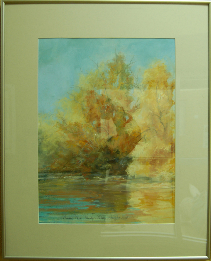 River Tree Study<br /> 19 x 24 Framed Pastel<br /> Libby Wright <br /> $250