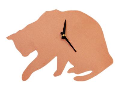 Cat Silhouette Clock<br /> Metal<br /> Anita Edwards<br /> $69