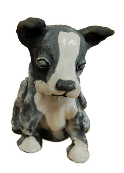 Boston Terrier<br /> Clay Sculpture<br /> Katie Willoughby<br /> $160