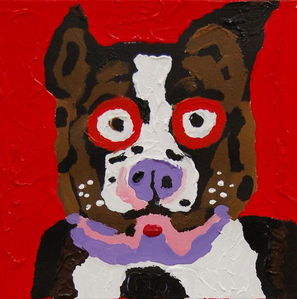 Boston Pup Symphony<br /> 12 x 12 Acrylic on Canvas<br /> David Franklin<br /> $135
