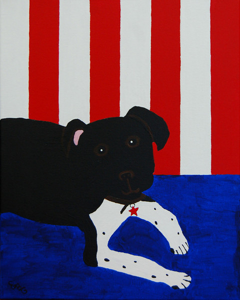 Adopted in the USA<br /> 16 x 20 Acrylic on Canvas<br /> Ellen Gillespie<br /> $75