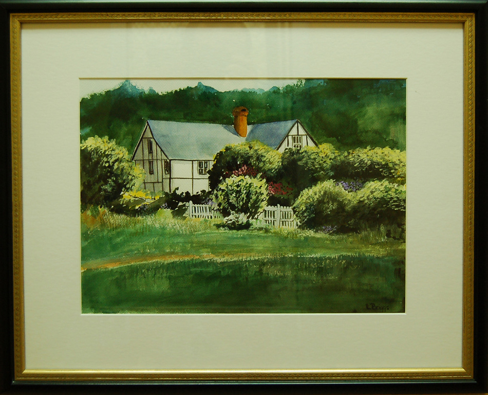 Forest Park Home<br /> 24 x 20 Framed Watercolor<br /> Lynn Briggs<br /> $140