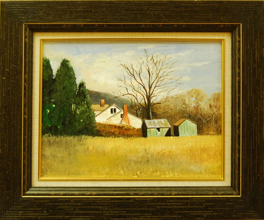 The Farm<br /> 20 x 17 Framed Oil on Canvas<br /> Lynn Briggs<br /> $60