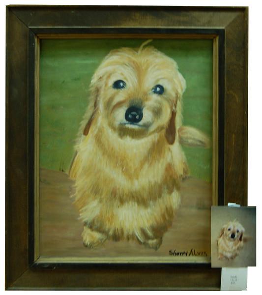 Sandy<br /> 11 x 14 Framed Oil on Canvas<br /> Sherry Alvis<br /> $95